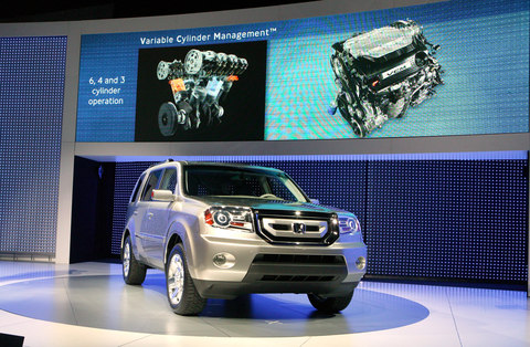 A prototype of the next-generation Honda Pilot is being unveiled at the 2008