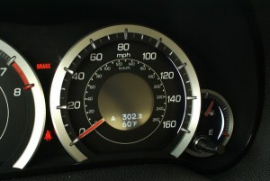 LED backlit gauges with progressive illumination