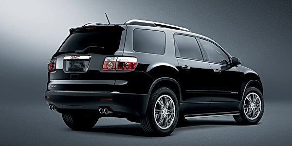 The GMC Acadia, with its sleek styling, clever interior packaging and