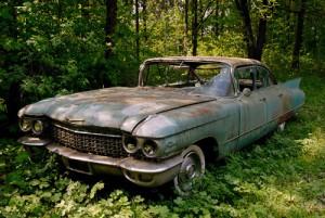 cadillac deville car wreck