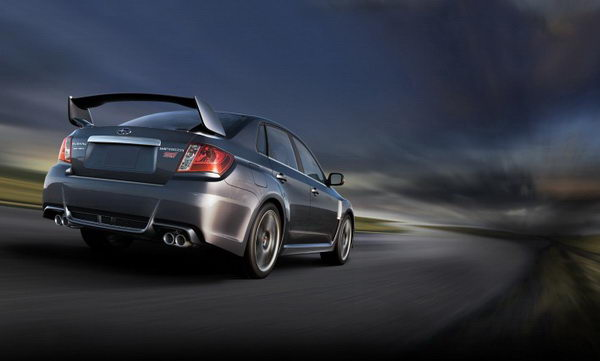 The 2011 Subaru WRX STI, with its iconic rear wing, receives a new body