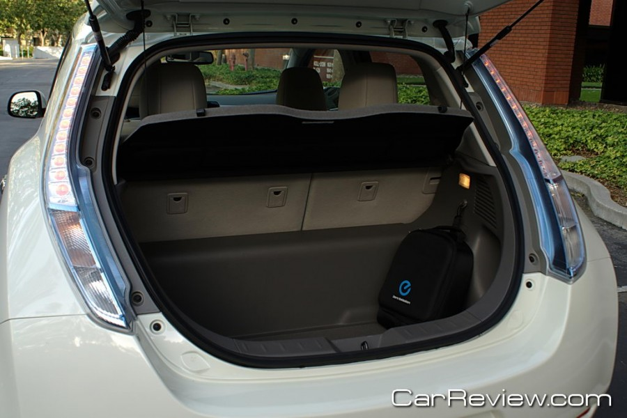 Nissan LEAF rear cargo area