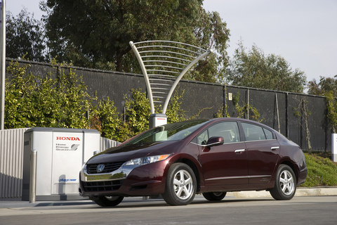 Honda FCX Clarity and home energy station