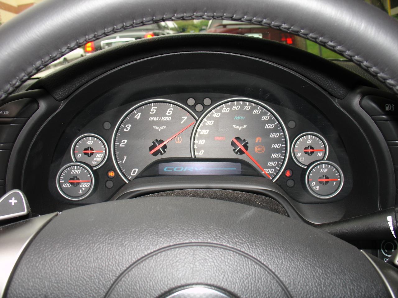 Chevrolet Corvette instrument cluster