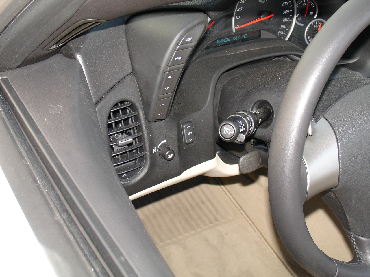 2008 Chevrolet Corvette Convertible - power switch