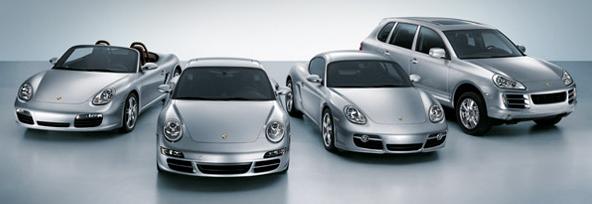 2008 Porsche lineup