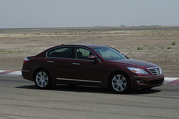 2009 Hyundai Genesis on the test track
