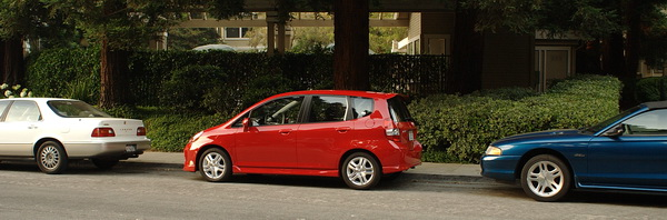 parking the Honda Fit