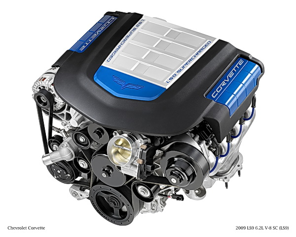 Chevrolet Corvette ZR1 LS9 6.2L V8 engine
