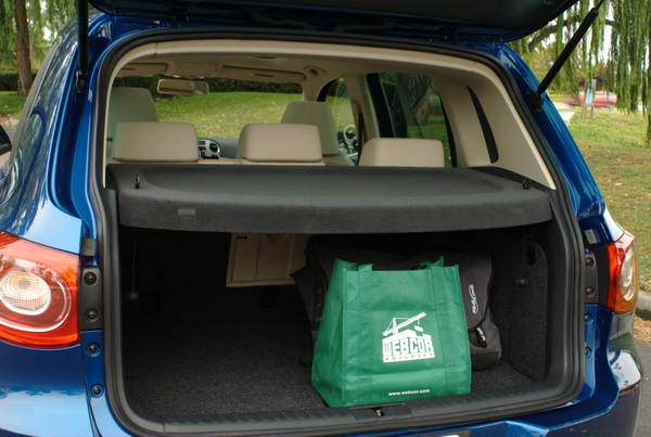 Volkswagen Tiguan - rear cargo area not too spacious