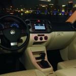 Volkswagen Tiguan - purple backlighting at night