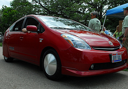 Jared Parish's Prius winner of 2008 MPG Challenge