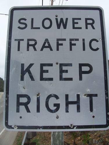 hypermilers slower traffic keep right