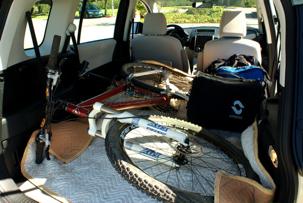 Mazda MAZDA5 cargo area can fit a bike