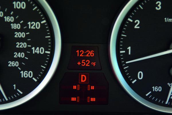 2008 BMW X6 instrument cluster
