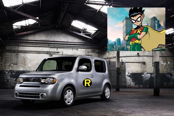 Robin Boy Wonder Nissan Cube