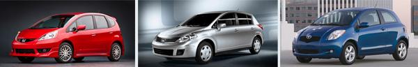 Honda Fit - Nissan Versa - Toyota Yaris