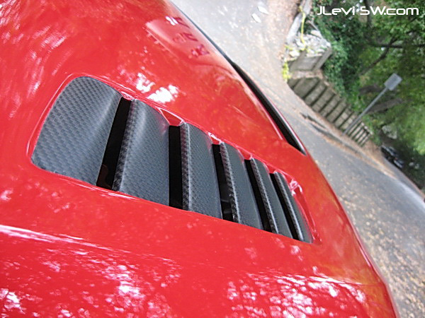 JLevi Sportwerks E92 BMW 335i Red Dragon - carbon fiber hood