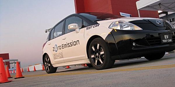 Nissan Leaf EV test mule