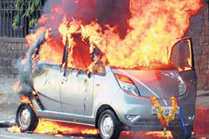 Tata Motors Nano Fire