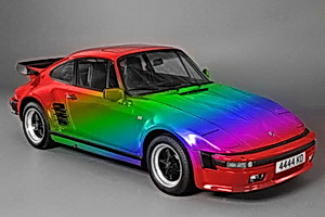 Porsche 911 multi-color paint job