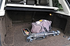 2010 Range Rover rear cargo area