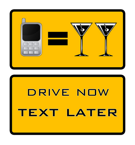 drive now, text later