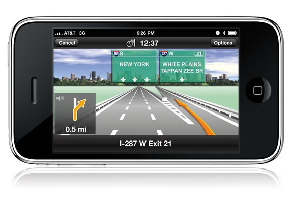 iPhone GPS navigation guide