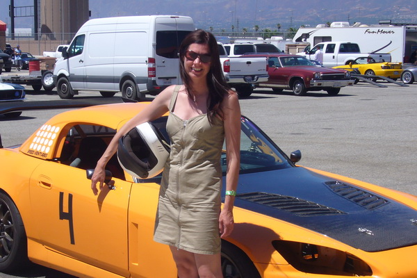 Adrienne ready for a hot lap Gymkhana Grid-Series Competition