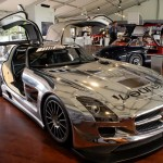 The real Mercedes-Benz SLS AMG GT3 race car