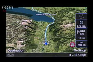 Google Earth used in Audi's navigation system