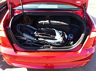 Ford Fusion Hybrid has 11.8 cubic feet of trunk space