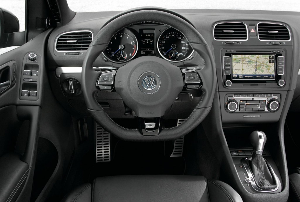 2011 VW Golf R driver's cockpit