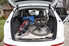 Audi Q5 has 57.3 cubic feet of cargo space