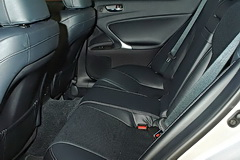 2011 Lexus IS has 13 cubic feet of trunk space