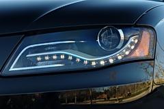 Audi A4 integrated LED DRLs