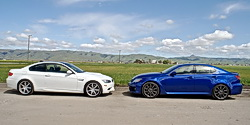 Lexus IS-F vs Dinan BMW M3