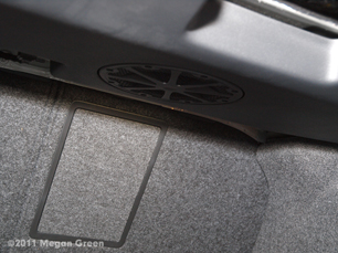 ©2011 Megan Green - Fender subwoofer in VW Jetta