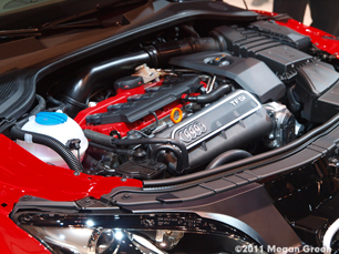 ©2011 Megan Green - Under the hood of the Audi TT RS