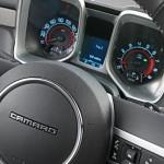 2011 Chevrolet Camaro steering wheel and instrument pod