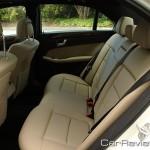2011 Mercedes-Benz E350 back seats