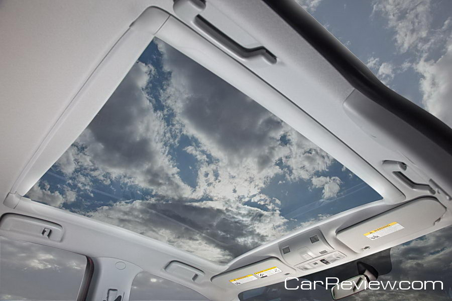 Panoramic sunroof inside the 2011 Outlander Sport