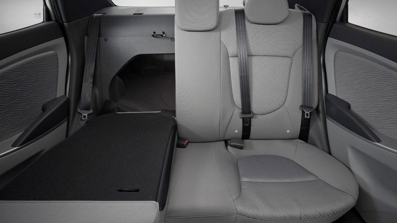 2012 Hyundai Accent 60/40 Split Fold Down Rear Seats