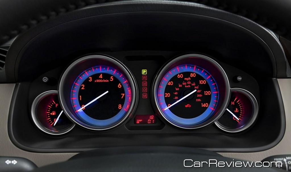 2011 Mazda CX-9 instrument cluster backlit