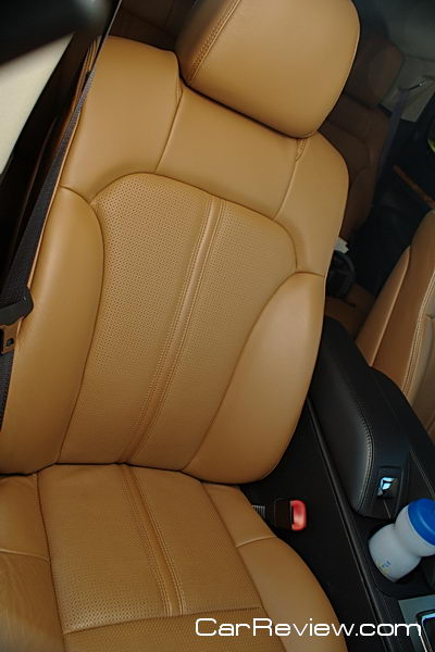 Comfortable leather seating is perfect for long road trips