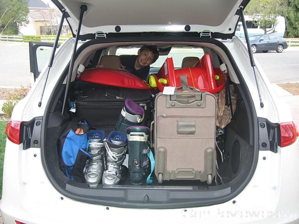 Packing the Lincoln MKT for a snow trip