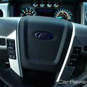 Ford F-150 steering wheel includes controls audio, cruise, and Ford SYNC