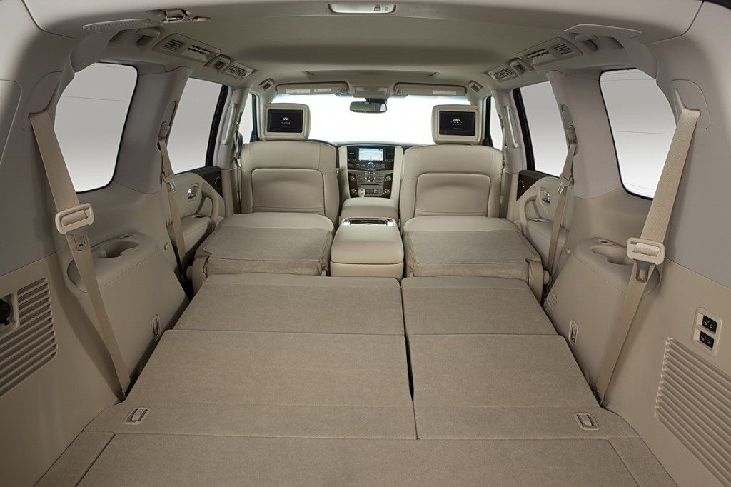 95 cubic feet of cargo space with 2nd and 3rd rows folded