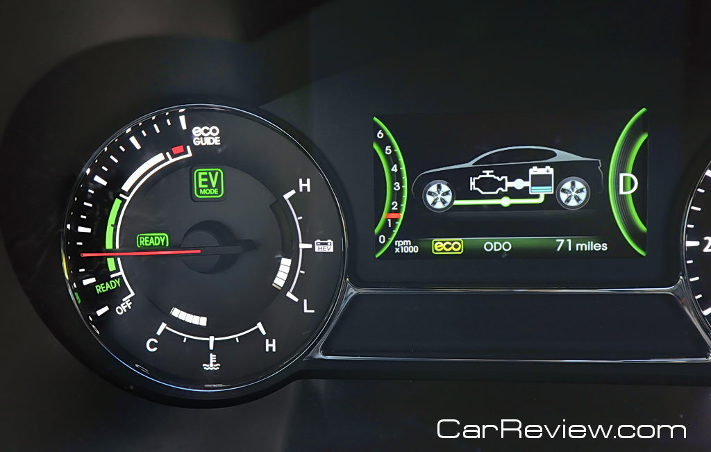 Kia Optima Hybrid active eco system display