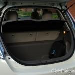 Nissan LEAF rear cargo area